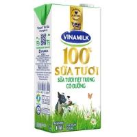 Sữa tươi vinamilk 100% có đường hộp 1l