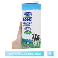 Sữa tươi vinamilk 100% không đường hộp 1l